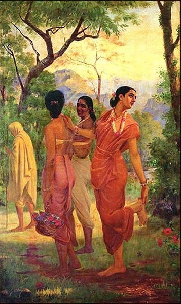 Vertu et dévouement, les deux mamelles de l'épouse indienne dans Je l'ai lu dans le journal! Raja_Ravi_Varma_-_Mahabharata_-_Shakuntala